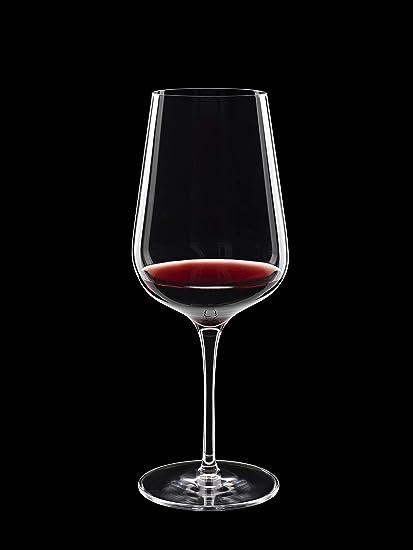 Luigi Bormioli Intenso No 550 18 5 Oz Red Wine Glasses Set Of 6 Clear Wine Glasses Amazon Com