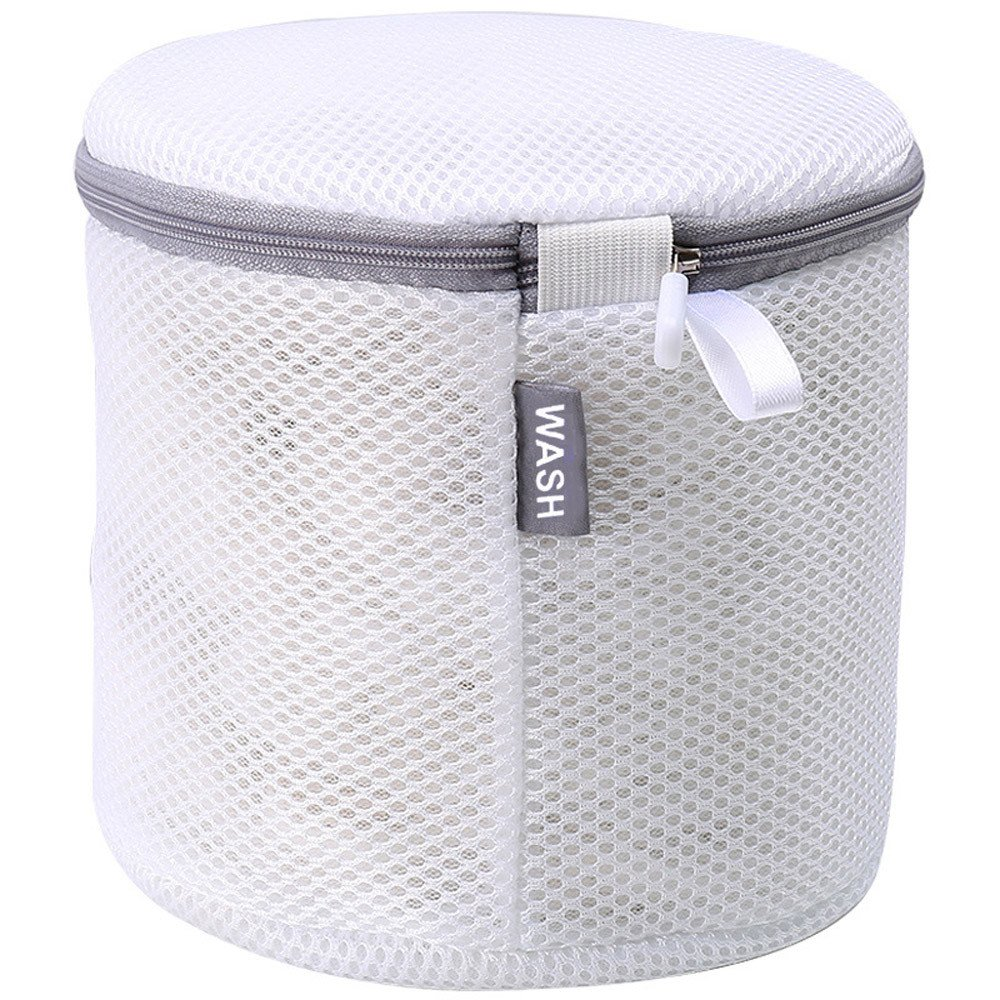 LiPing 7'' Women Bra Laundry Lingerie Washing Home Floating Lint Hair Catcher Mesh Pouch Washing Machine Laundry Filter Bag Saver Protect Household Cleaning. (A)