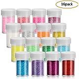 Fine Slime Glitter, 18.5g Glitter Powder Each Shaker Jar, Great Glitter Powders for Slime, Craft, Nail Polish, Paints…