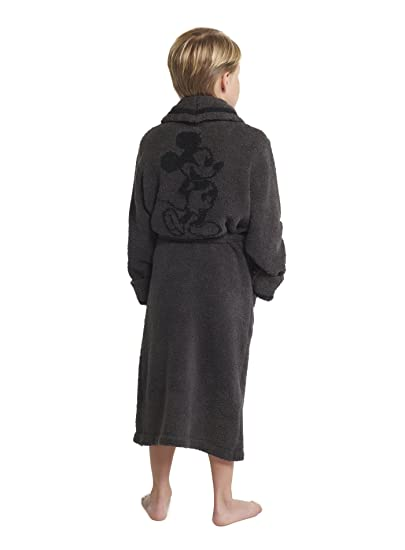 d150c8055d Barefoot Dreams CozyChic Unisex Youth Classic Mickey Mouse Robe Disney  Series-Carbon Black