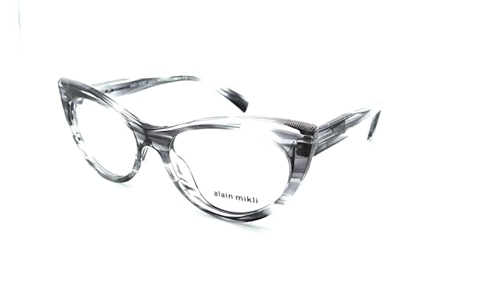 2c41143615152 Alain Mikli Rx Eyeglasses Frames A03087 003 54-18-140 Paint Black Crystal  Italy  Amazon.co.uk  Clothing