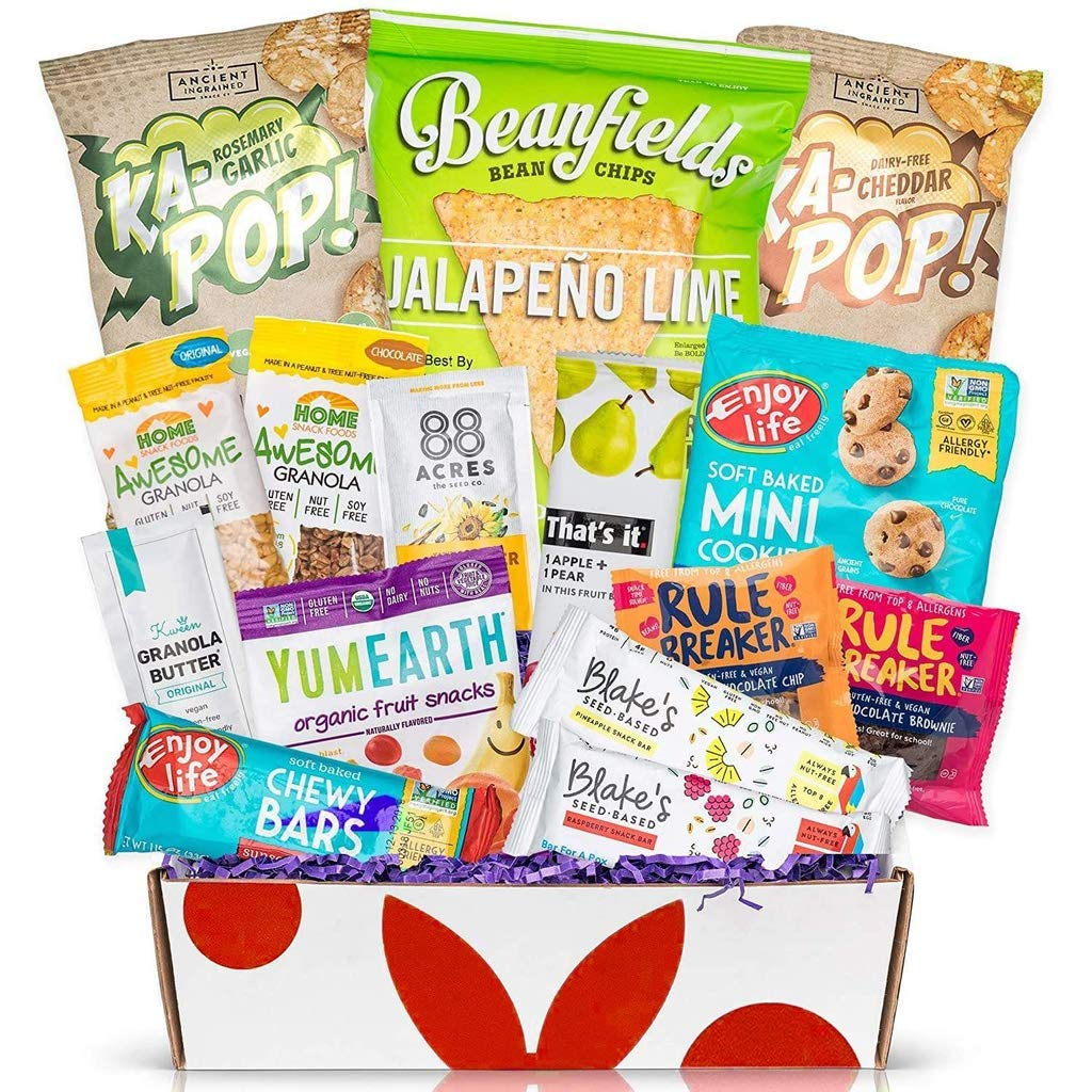 Top 8 Allergen Free Snacks: Great Gift For Anyone With Allergy Sensitivities - Gluten Free, Dairy Free, Peanut Free, Egg Free, Fish Free, Tree Nut Free, and Shellfish Free