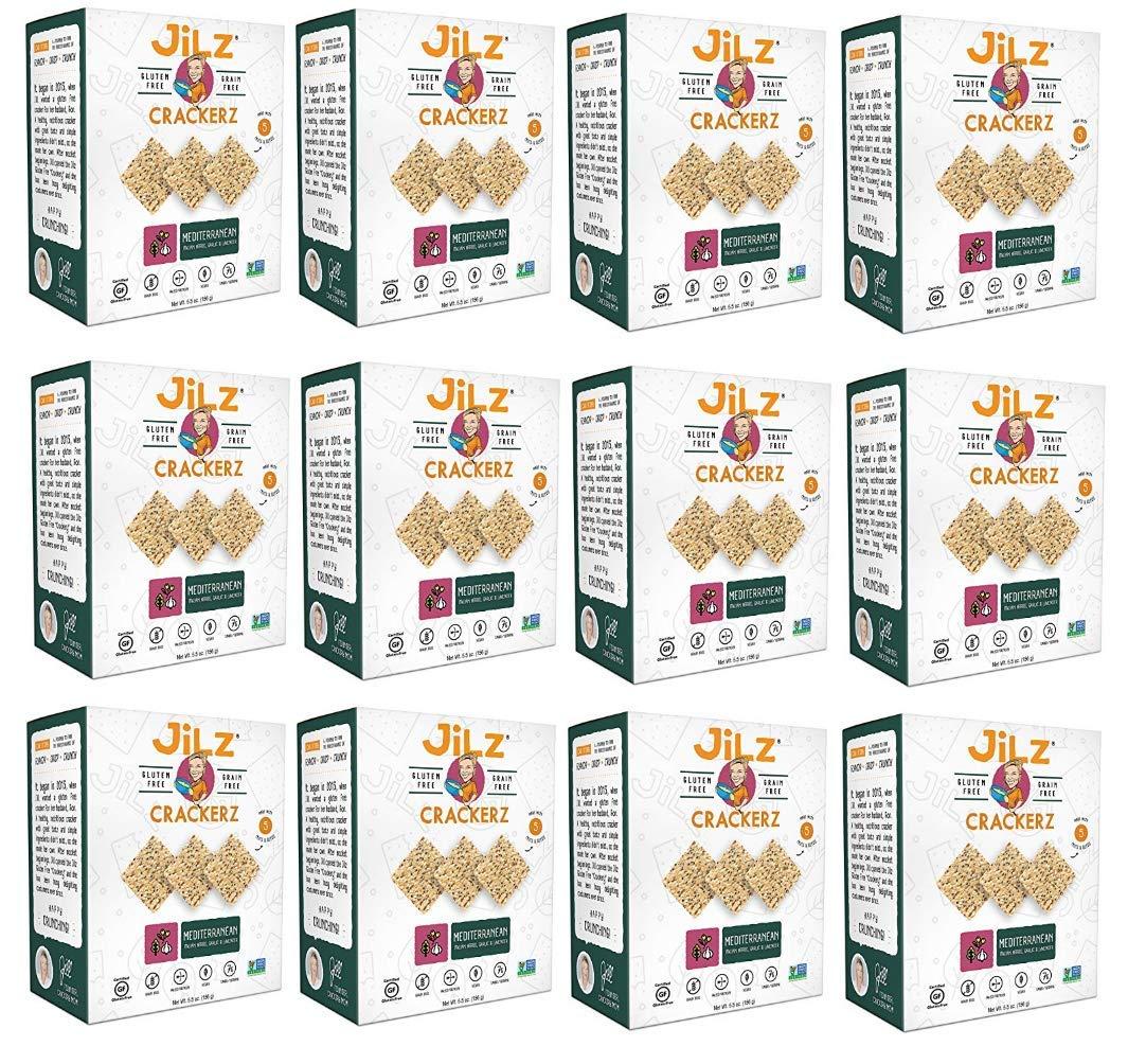 Jilz Gluten Free, Mediterranean Crackers, 5.5 Ounce