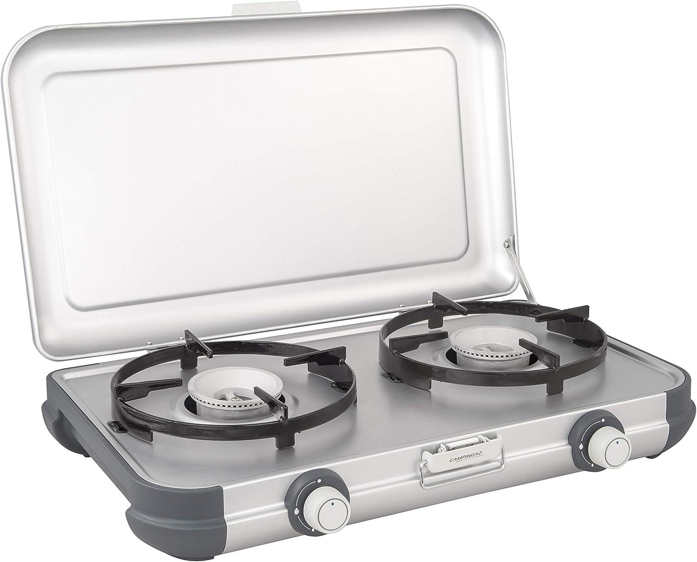 Campingaz Estufa de Camping Cocina 2 CV, portátil Dos quemadores Cocina de Gas, 4.000 W, Parrilla compacta para Exteriores