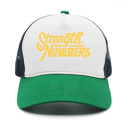 488b83d9fc9 Qqppii Strength in Numbers Gold Slogan Printing Womens Mens Baseball Hat at  Amazon Men s Clothing store