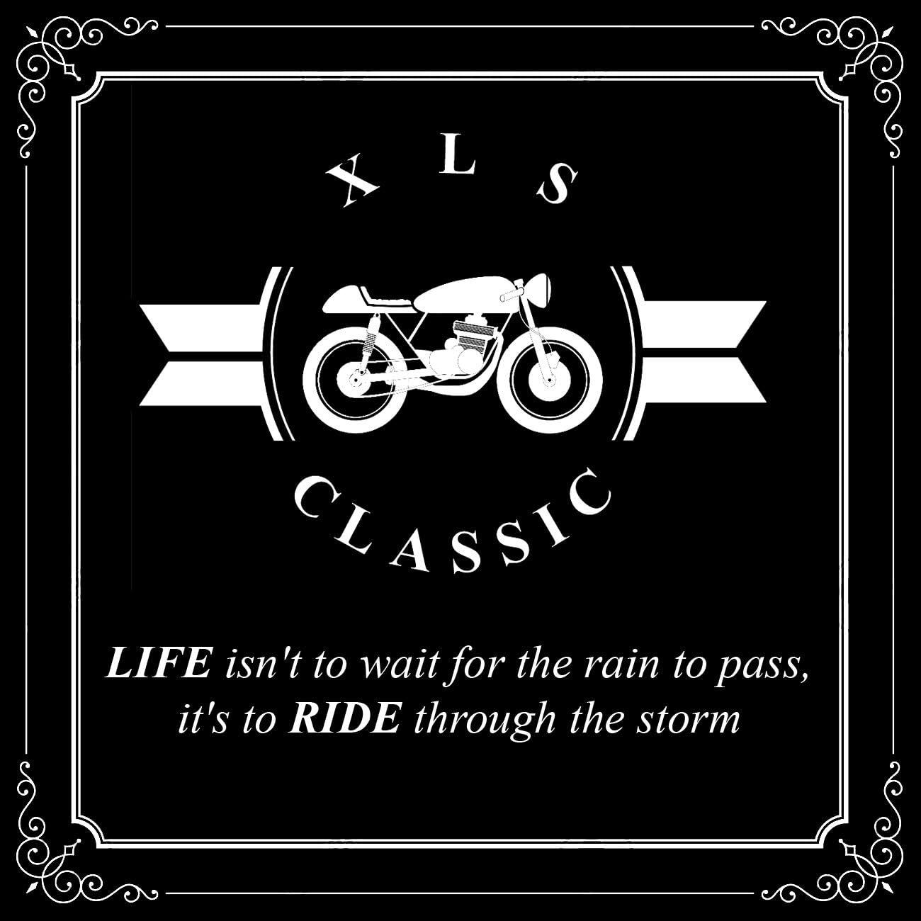 Xls Motorradjacke Classic Urban Für Herren Schwarz Aus Leder Retro Bikerjacke Herausnehmbares Thermofutter Größe 4xl Auto