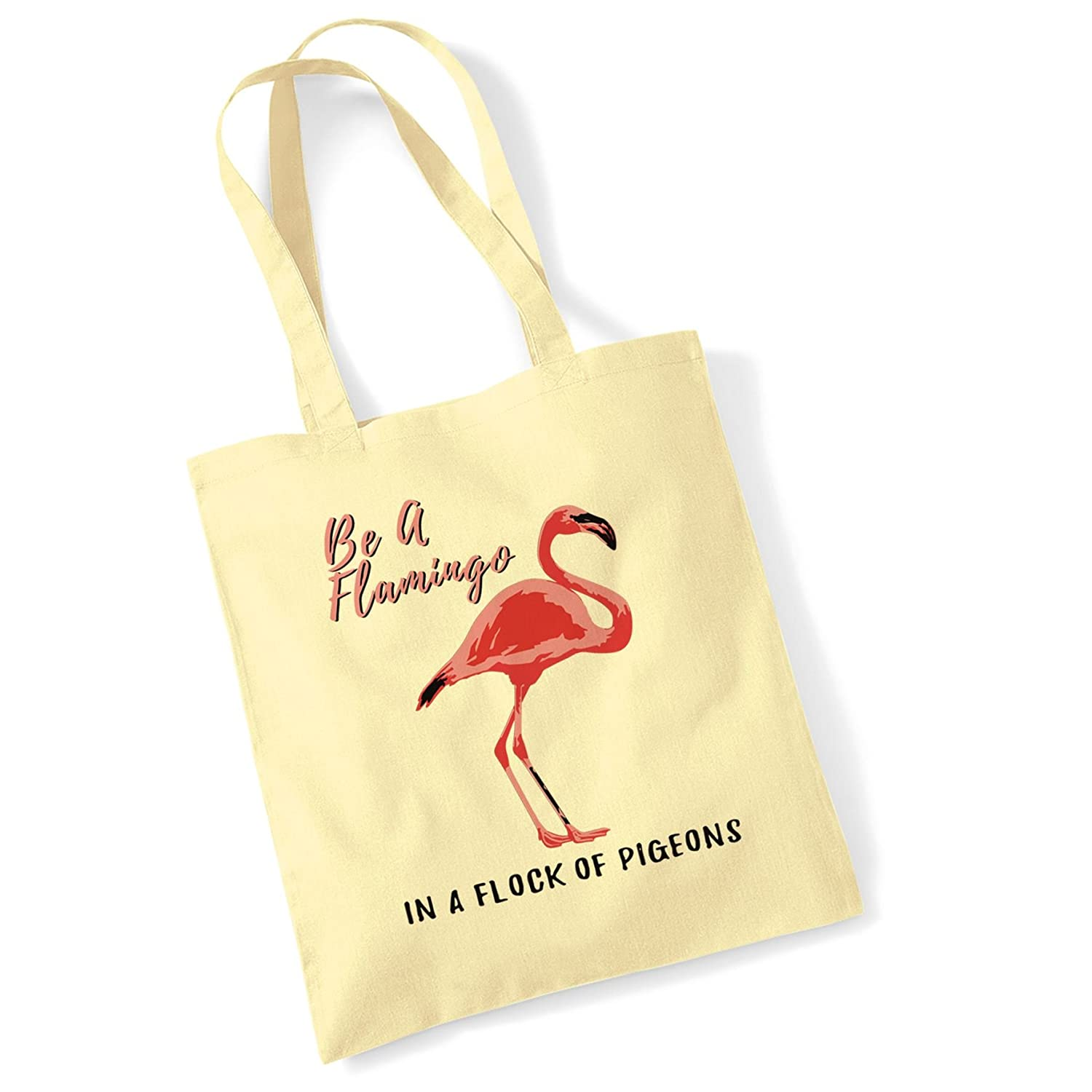 Tote Bags For Women Be A Flamingo Printed Cotton Shopper Bag Gifts Bang Tidy Clothing DG026P