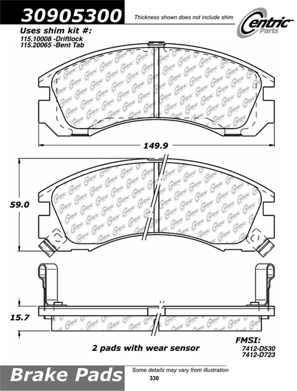 Stoptech 309053 Street Performance Brake Pad Automotive Saab Brakes Diagram