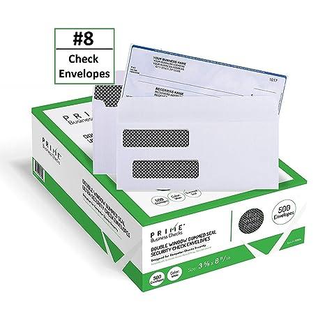 Amazon.com: 500 sobres de cheques de seguridad de ventana ...