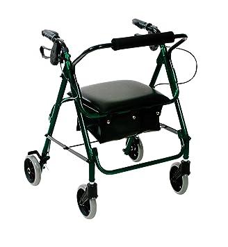 Amazon.com: Andador de cuatro ruedas ligero de aluminio ...