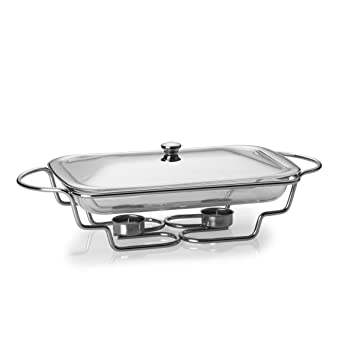 Towle Living 5108963 Modernist Chrome-Plated Oblong Warmer, 3-Quart