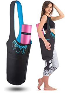 Amazon.com : WRASCO Yoga Mat Bag Canvas Casual Yoga Backpack ...