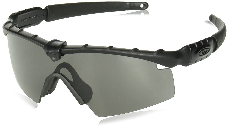 fd4305e4c86 Amazon.com: Oakley M Frame 2.0 Strike Shield Sunglasses Matte Black w/Grey  130 mm: Clothing