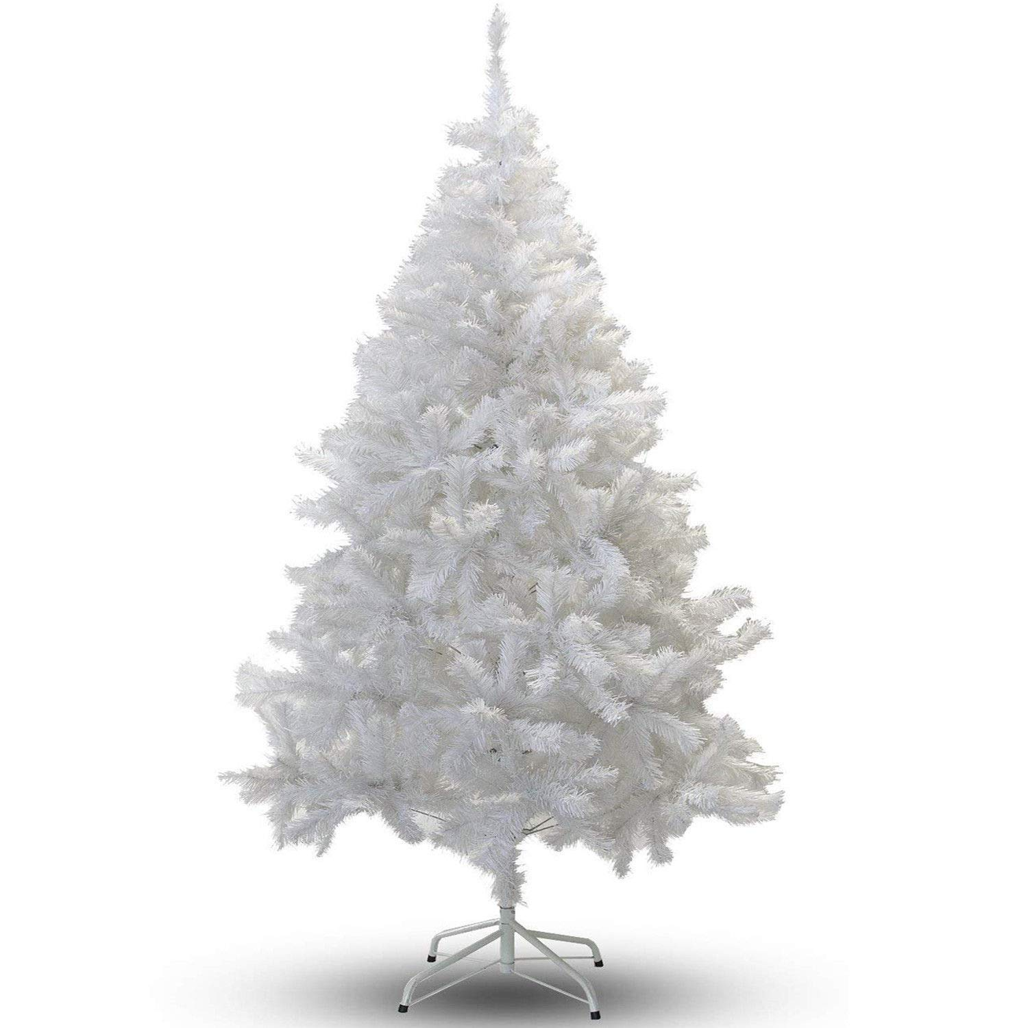 6FT White Premium Artificial Christmas/Xmas Tree: Amazon.co.uk ...