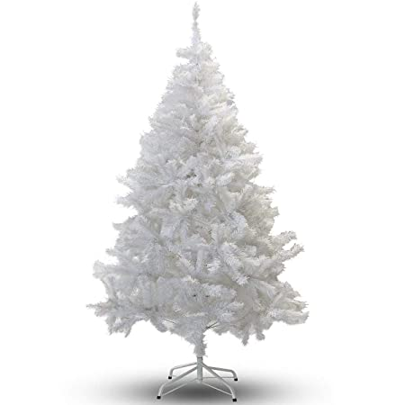 6ft White Premium Artificial Christmas Xmas Tree Amazon Co Uk