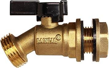 RAINPAL RBS005 Brass Water Container/Rain Barrel Quarter Turn Spigot(Lead Free Compliant)
