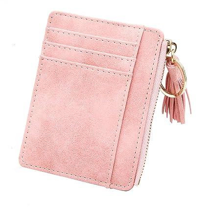 525b05cf71c4 Amazon.com: JETEHO Credit Card Holder PU Leather Wallet Minimalist ...