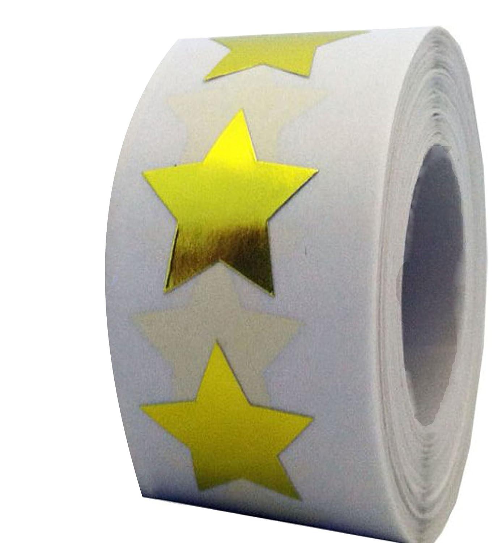 Azulejo y adhesivo pegatinas en forma de estrella –  2 pulgadas –  500 por rollo –   –  Lá mina de Profesor Suministros Oro Tile & Sticker