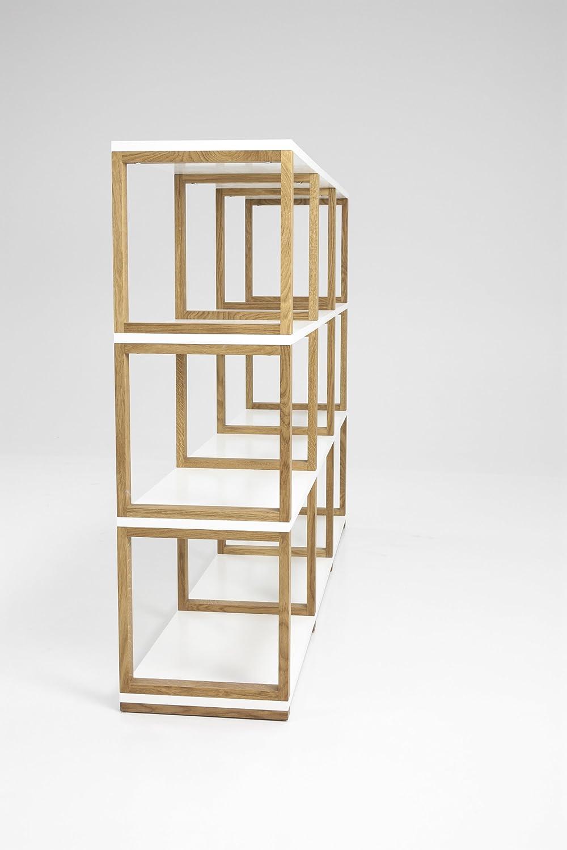 178 x 36 x 42 cm Tenzo 2331-012 Art Designer Regal//Raumteiler Grau // Eiche Spannplatte//Massiv Eiche