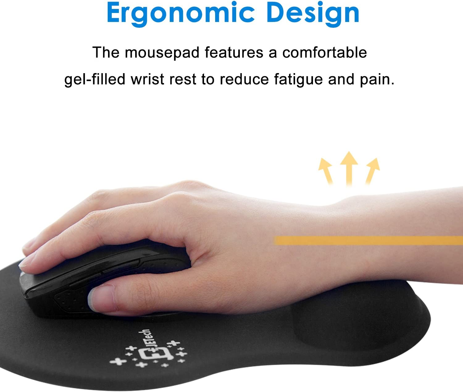 JETech Mouse Pad Mat with Gel Wrist
