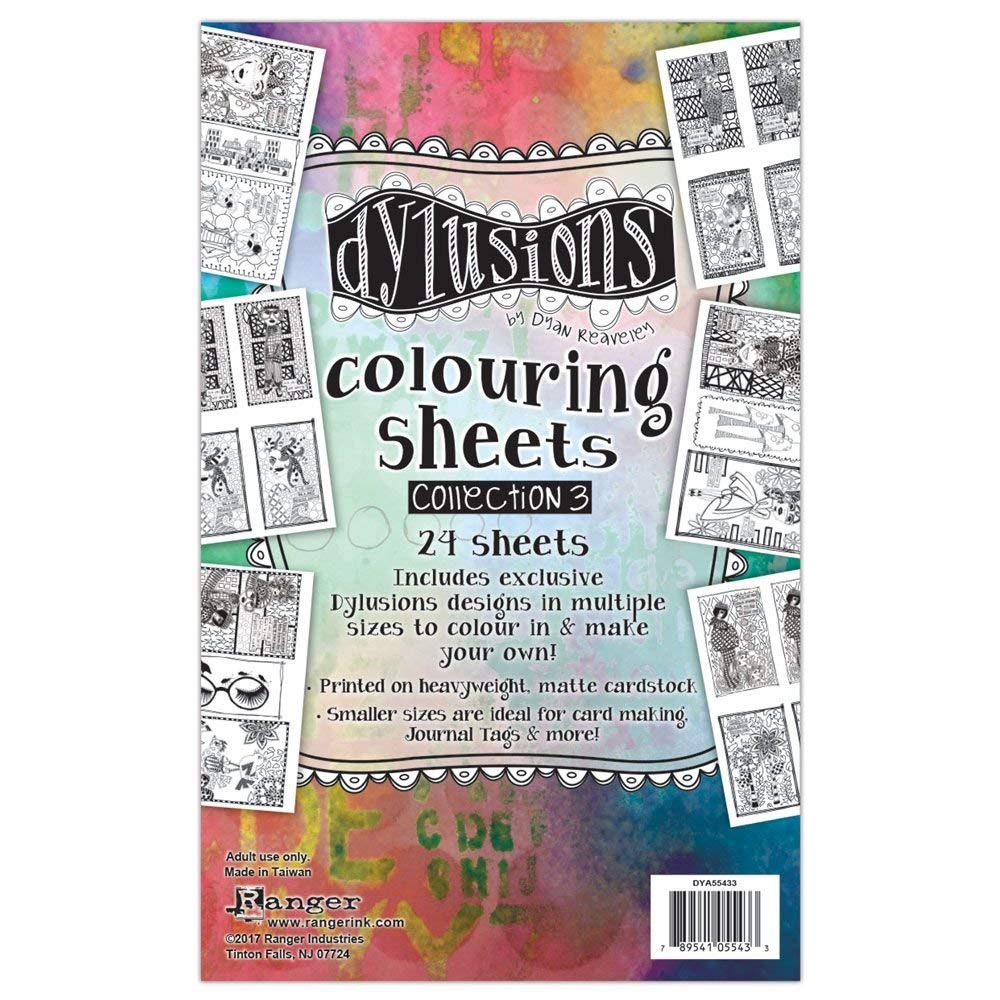 Ranger Collection 3 Dylusions Colouring Sheets 3