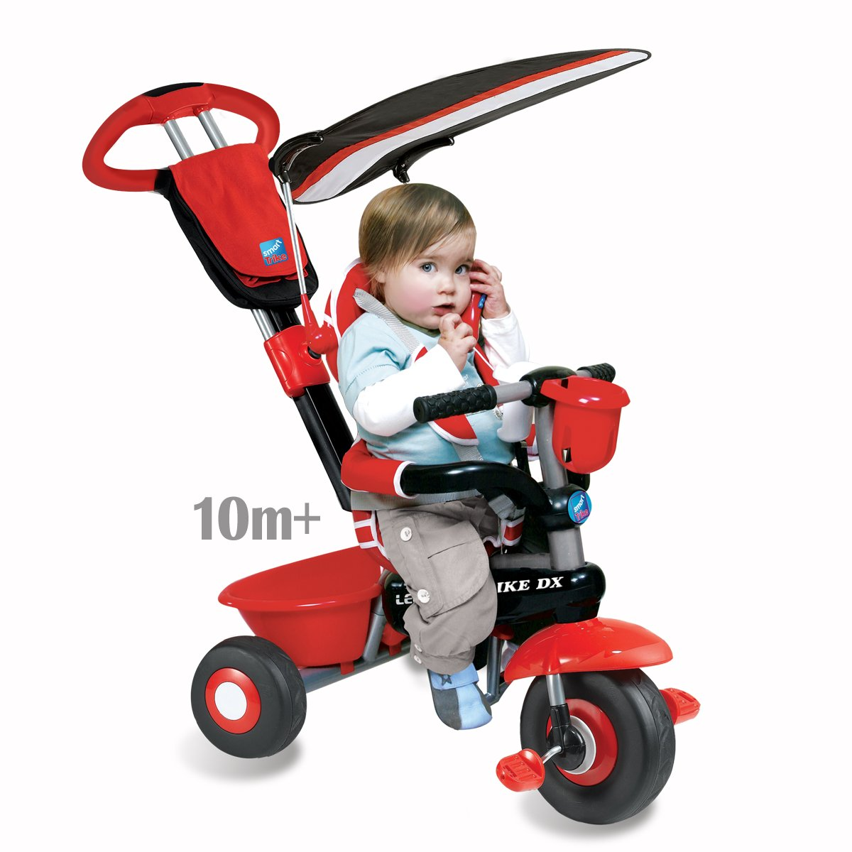 amazoncom smart trike deluxe  in  red black toys  games -