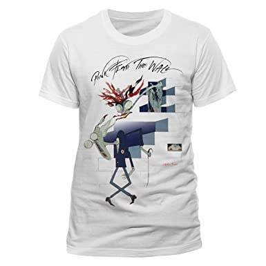 Pink Floyd Teachers Wall Official Unisex T Shirt White Medium