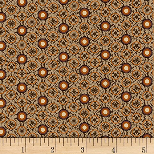 Marcus Brothers Judie Rothermel Scrappier Calico Dot Brown Fabric by The Yard