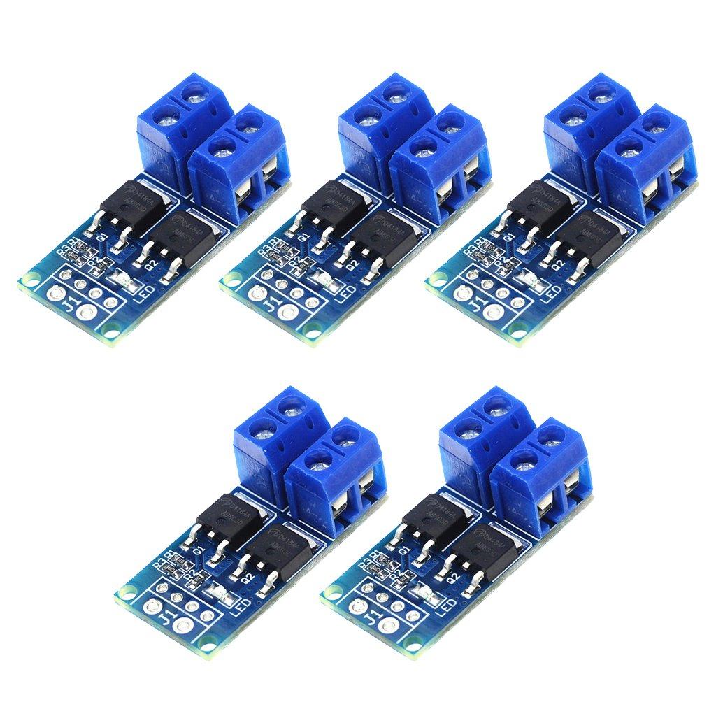 FLAMEER 5pcs MOSFET MOS FET Trigger Switch Driver Module PWM R/égulateur Panneau De Contr/ôle