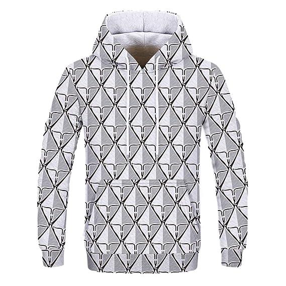 5983b67d1e51 Easytoy Men's Hoodies Sweatshirts Couple 3D Geometric Graphic Sweat Shirts  Casual Autumn Winter Pullover Hooded Sweatshirt Asian Size:L Black:  Amazon.in: ...