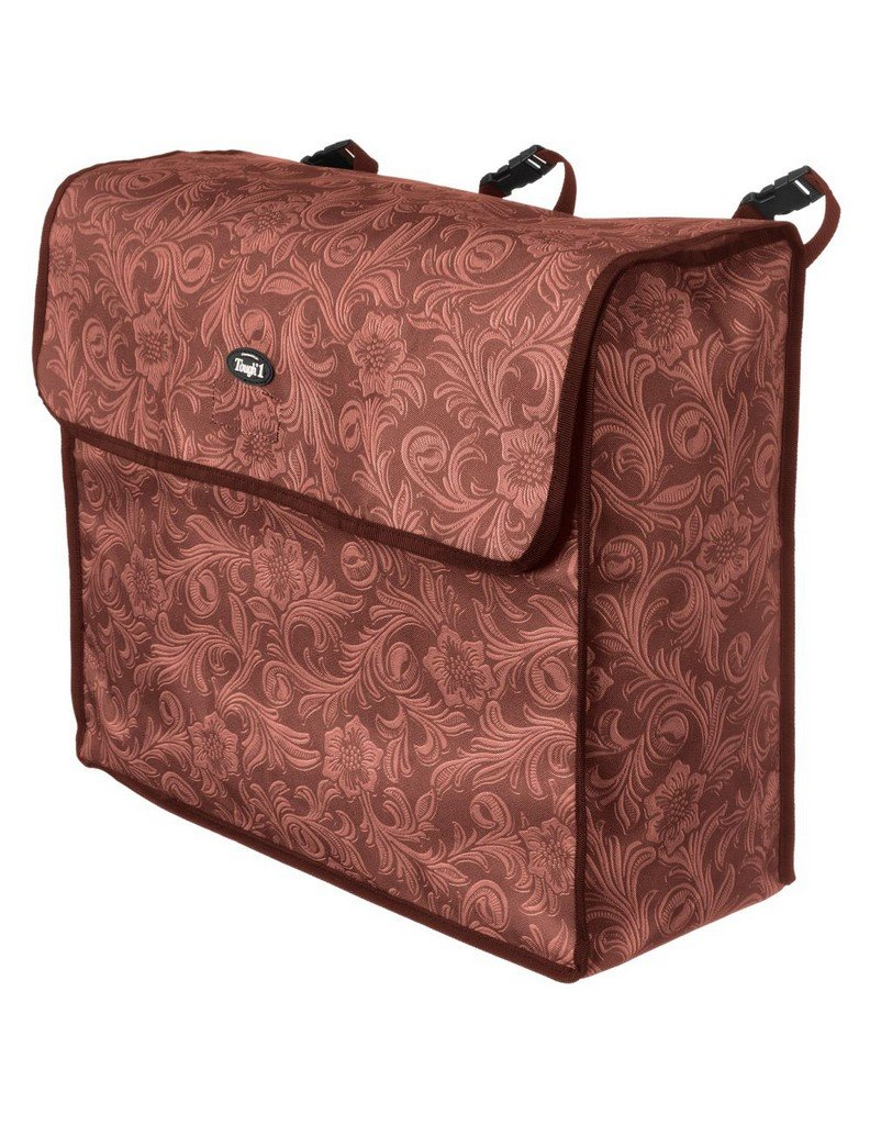 Tough-1 Blanket Storage Bag Brown Tooled Leather