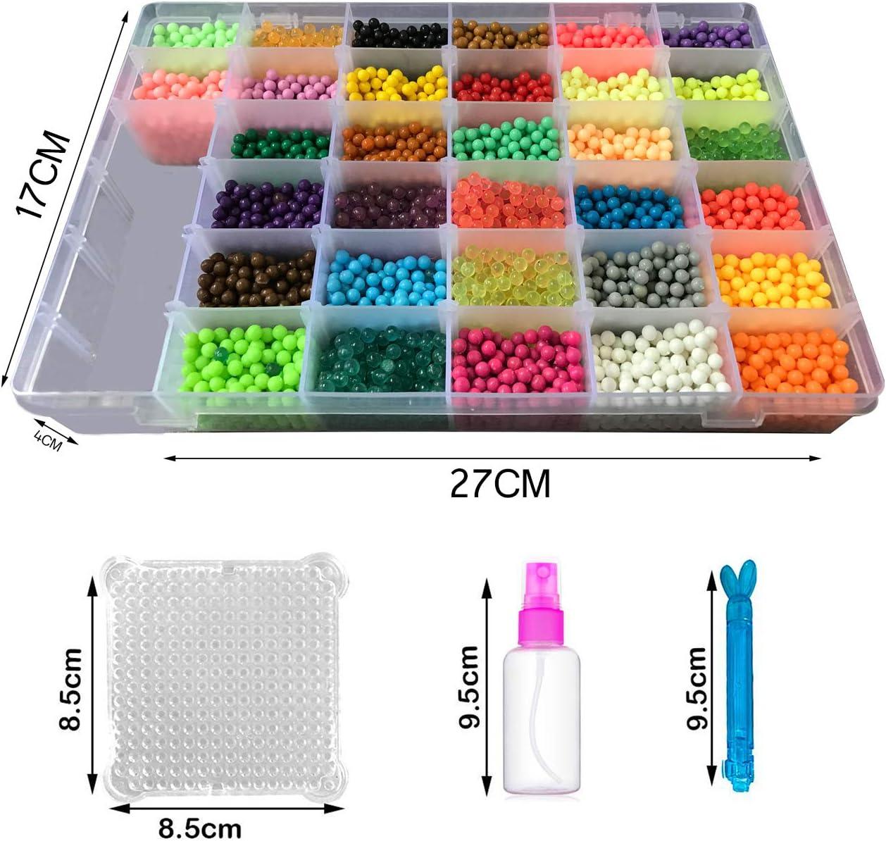 shafier Abalorios Cuentas de Agua 8000 Perlas 32 Colors//Hama Beads//para Ni/ños DIY Artesan/ía Juguetes Educativos DIY