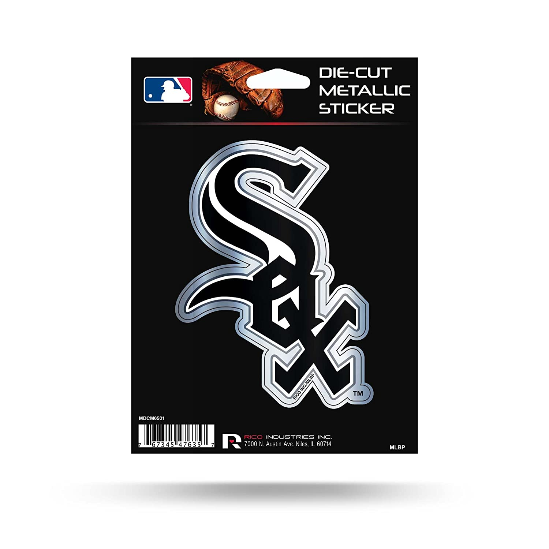 Rico Industries Chicago White Sox Rico 5 METALLIC DECAL Die Cut Auto Sticker Emblem Baseball Inc Inc Chicago White Sox Rico 5 METALLIC DECAL Die Cut Auto Sticker Emblem Baseball