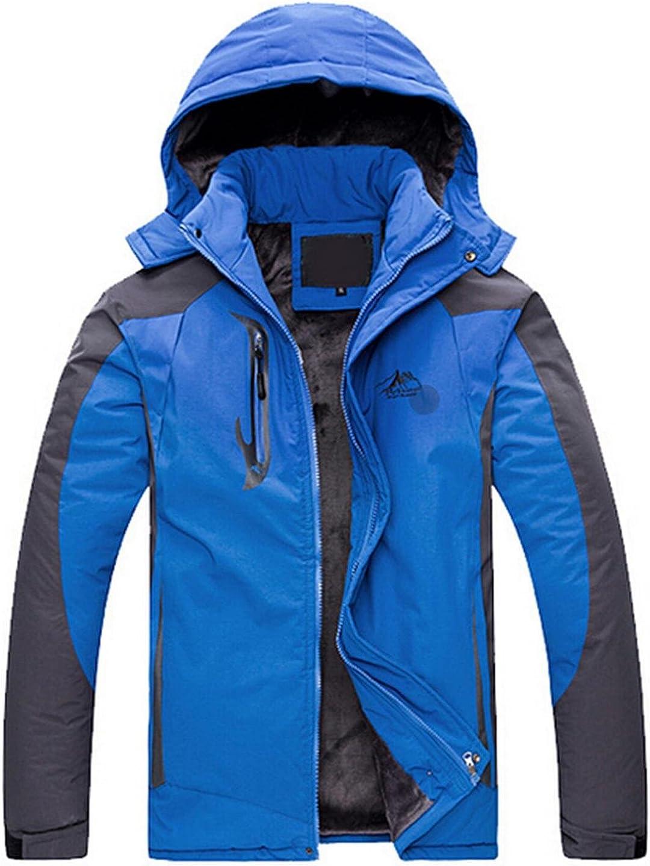 jeansian Mens Thicken Velvet Stitching Zipper Hoodie Jacket Coat 9407
