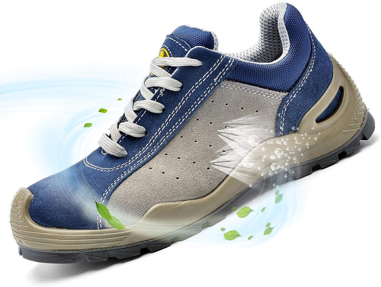 Zapatos de Seguridad con Punta de Acero y Antideslizantes -SAFETOE ...