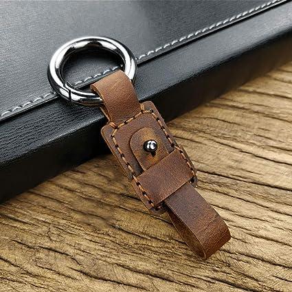 Amazon.com: BOLLAER - Llavero de piel de lujo para llaves de ...