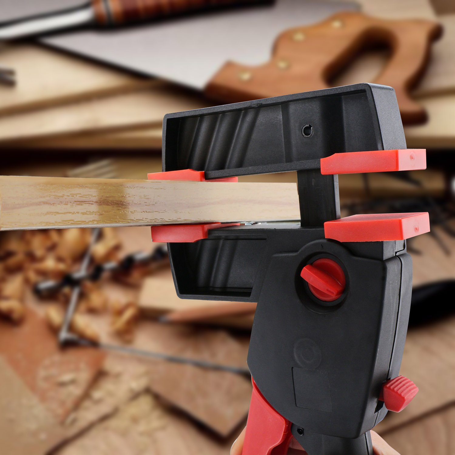 Bar Clamps: EnPoint™ Quick Grip Clamps Wood Clamps One-handed F-Clamps Bar Clamp Spreader 12.6IN 32CM Heavy Duty Clamps Perfect for Woodworking Chair Table Cabinet Gluing Assembly Work by EnPoint (Image #6)