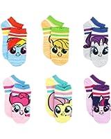 My Little Pony Girls 6 pack Socks (Toddler/Little Kid/Big Kid/Teen/Adult/Womens)
