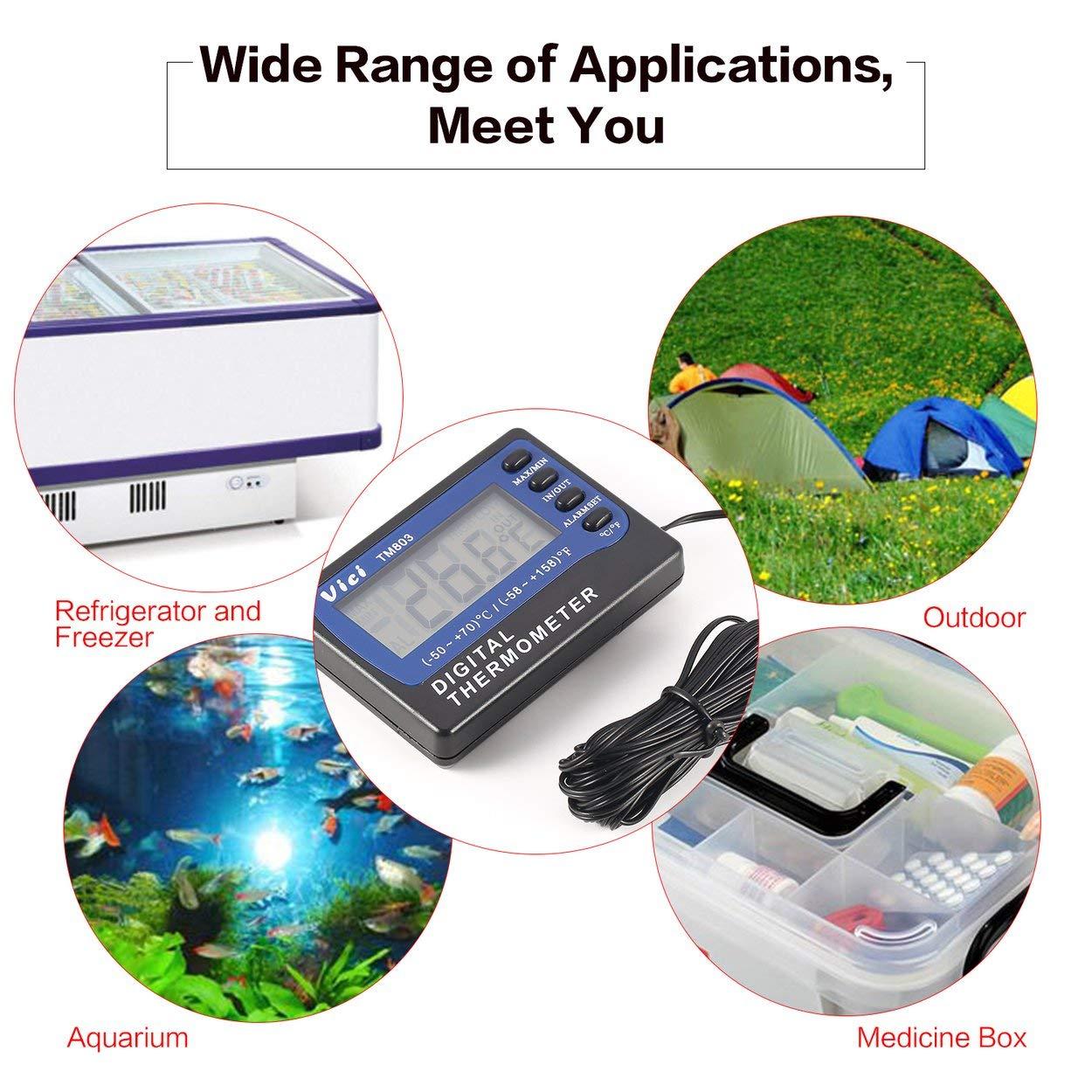 Lorenlli TM803 Pantalla LCD Digital Termómetro Refrigerador ...