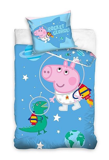 finest selection b0771 bf14c AHS Peppa Pig Toddler Cot Bed 100 x 135cm George Pig Duvet ...