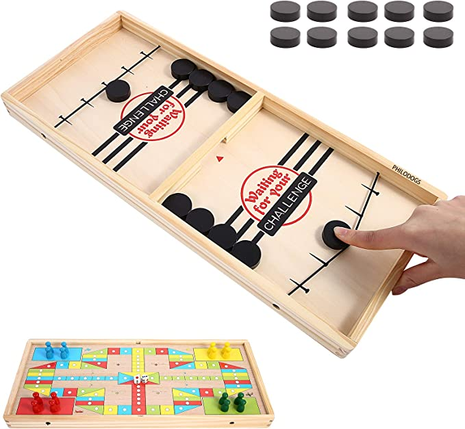 Details about  /Family Entertainment Fossball Battle Fast Sling Puck Board Game Ejection Chess