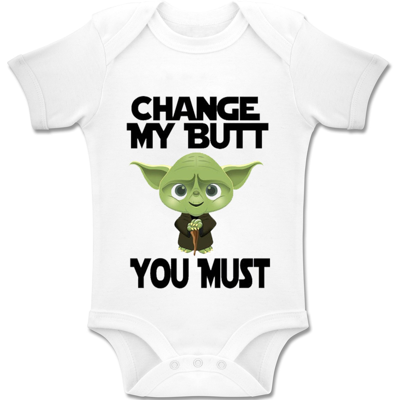 You Must Baby Bodys // Strampler 100/% Baumwolle Change My Butt Acen Baby Star Wars Inspired Yoda
