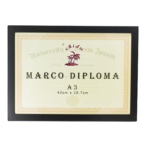 Marco negro para diploma A3 de 29,7 x 42 cm