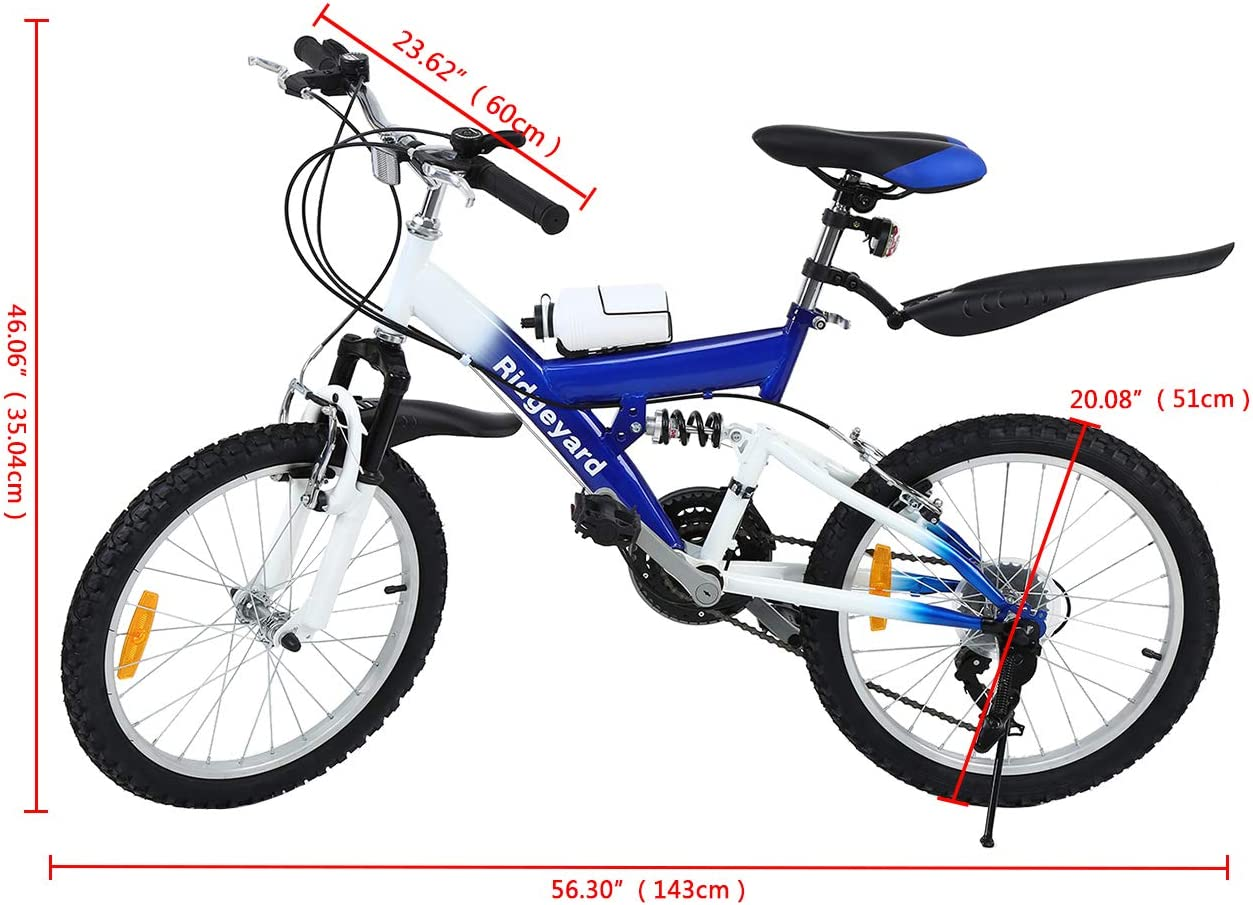 MuGuang Bicicleta de Montaña 20 Pulgadas Bicicleta Infantil 6 ...
