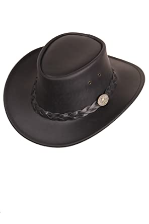 d3040f92336 Scippis - Leather Hat Bushman  Amazon.co.uk  Clothing
