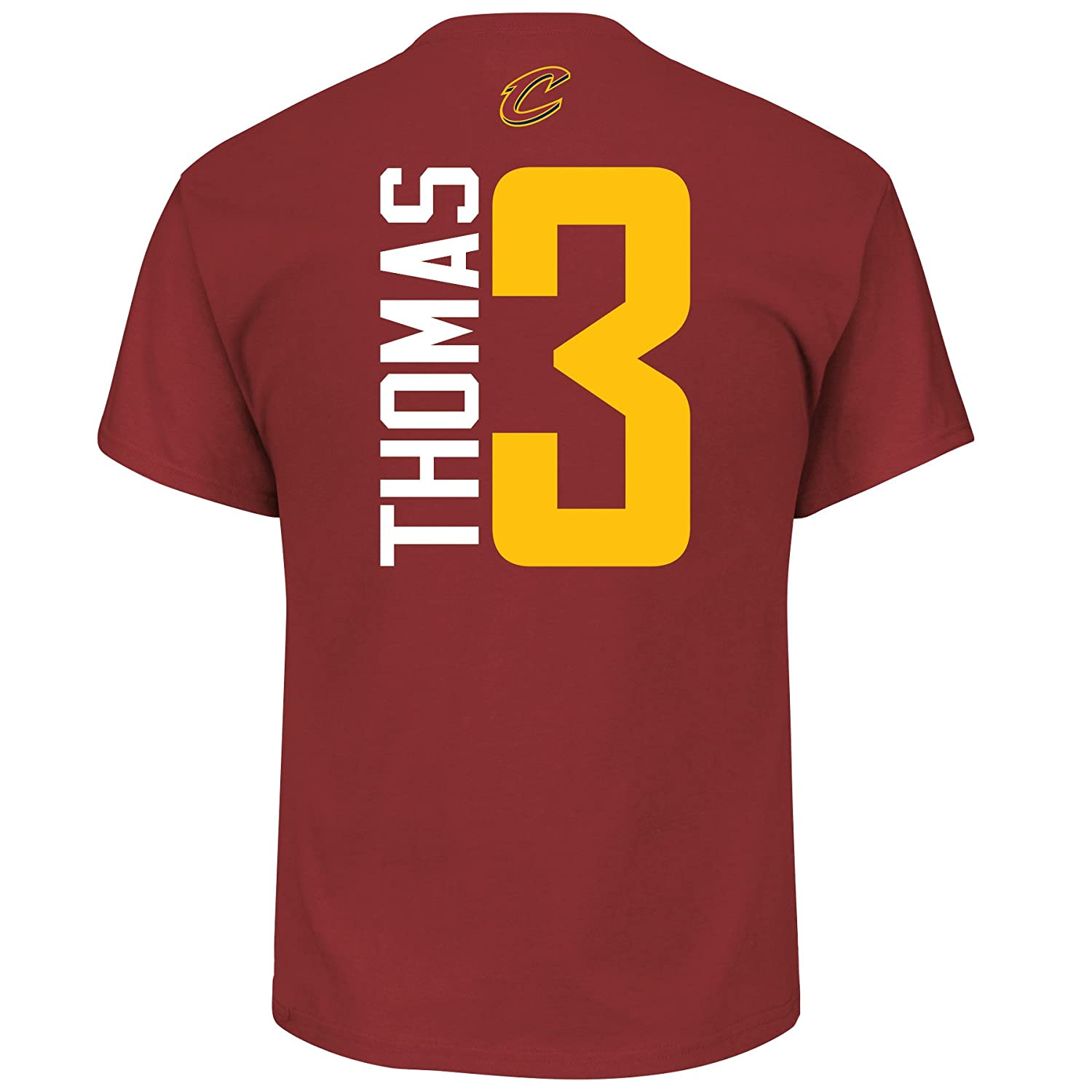 c4f79e526d0 Amazon.com   Cleveland Cavaliers Isaiah Thomas Vertical Player T-Shirt Red    Sports   Outdoors