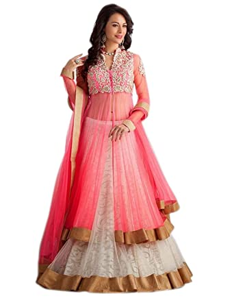 38e776783 CATCHY ENTERPRISE Women Lehenga Choli Net Embroidered Work (Pink ...