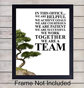 Teamwork Quote - Unframed Wall Art Print - Perfect for Office Decor - Makes a Great Affordable Gift - Inspirational and Motivational - Ready to Frame Photo (8X10)