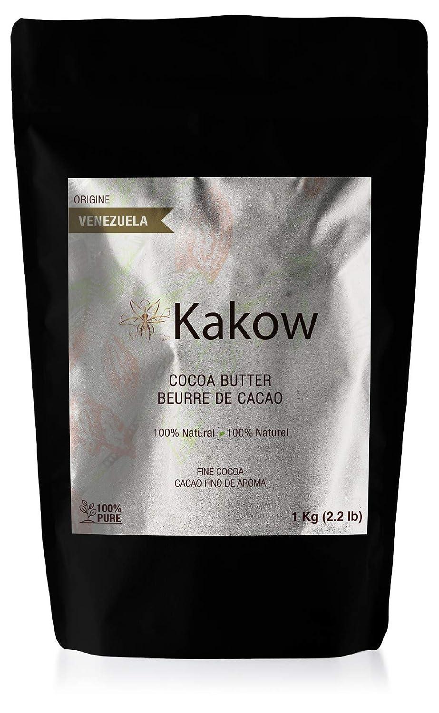 Natural Cocoa Butter - Non-deodorized - Food Grade - 100% Venezuelan Fine Cocoa 1kg (2.2 lb)