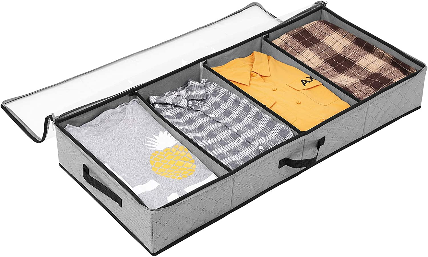 SOLEDI Under Bed Storage Containers for Closet Organized Quilts, Clothes and Holiday Decorations Can be Stored Under the Bed and the Top of the Closet with a Transparent Window, 1 Pack